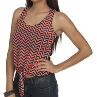 Chevron Front Chiffon Tank | Shop Tops at Wet Seal