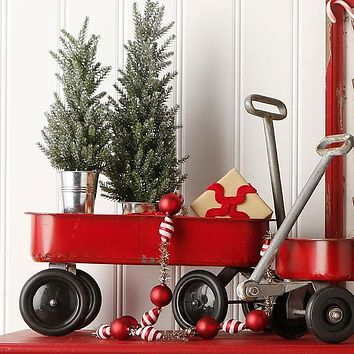 Decorative Holiday Vintage Wagon -- 19-in