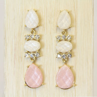 Pink and White Julia Earrings