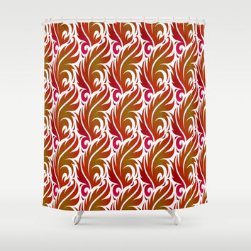 Floral Tones Shower Curtain by kasseggs