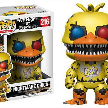 Funko pop Official Games: Five Nights at Freddy's - Nightmare Chica Vinyl Action Figure Collectible Model Toy with Original Box