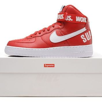 PEAPON Nike Air Force 1 Liberty Qs Af1 Red For Women Men Running Sport Casual Shoes Sneakers