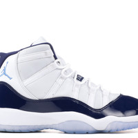 "Air Jordan 11 Retro Bg (gs) ""win Like '82"" - Air Jordan - 378038 123 - white/university blue 