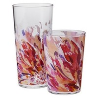 Room Essentials™ Floral Drinkware Set of 8 - Red