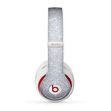 The Silver Sparkly Glitter Ultra Metallic Skin for the Beats by Dre Studio (2013+ Version) Headphones