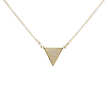 CZ Triangle Necklace