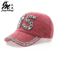 Free shipping fashion winter hat candy solid color rabbit fur baseball cap N5 Women's Autumn and Winter cap W011