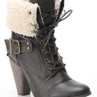 Bucco Cheri Booties In Brown - Beyond the Rack