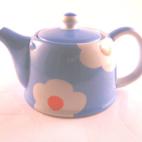 Daisy Collection 18.5 OZ  Teapot  and Tea Cups-  Assorted Colors