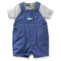Mighty Cute 2-Piece Whale Shortall Set