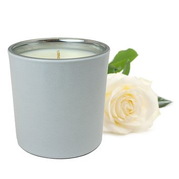 White Rose and Fern Scented Soy Jar Candles