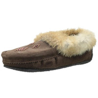 Manitobah Mukluks Womens Beaded Faux Fur Moccasin Slippers