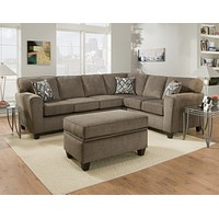 3100 Cornell Pewter 2 Piece Sectional