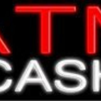 ATM Cash Handcrafted Real GlassTube Neon Sign