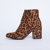 Chunky Leopard Babe Booties