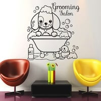 Wall Decals  Dog Grooming Salon Decal Vinyl Sticker  Pet Shop Scissors  Home Decor Interior Design Art Mural MN479