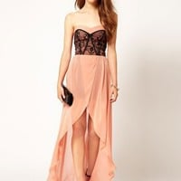 TFNC Dress with Lace Bodice and Hi Lo Skirt at asos.com