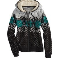 AE Fair Isle Polar Fleece Hoodie | American Eagle Outfitters