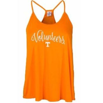 Official NCAA University of Tennessee Volunteers, Knoxville Vols UT UTK Women's Lamp Shade Hi Low Tank Top