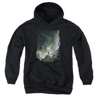 Hobbit - At Smaug's Door Youth Pull Over Hoodie