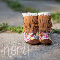 """Nori Shoes - """"Scout"""" - baby/toddler fringe boots"""