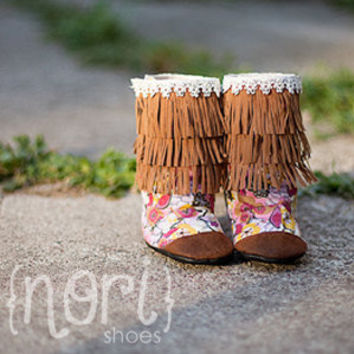 "Nori Shoes - ""Scout"" - baby/toddler fringe boots"