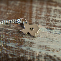 Texas Love Necklace in Sterling Silver