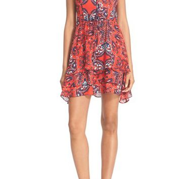 Parker 'Dax' Tiered Paisley Silk Fit & Flare Dress | Nordstrom