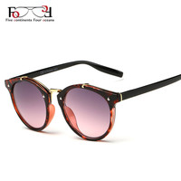 2015 Vintage Round Sunglasses Women Brand Designer Eyewear UV400 Gradient Female Retro Sun Glasses