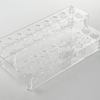 KLOUD City® Clear acrylic 32 holes organizer tray showcase holder for lipstick cosmetics