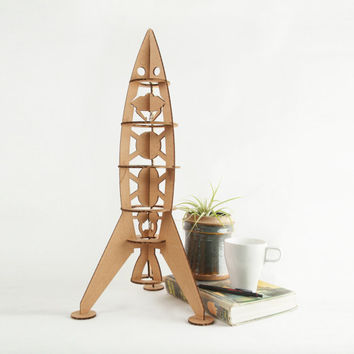 Large Rocket Ship Model Kit - Kids Room Decor