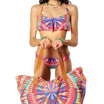 Multi Color Geometric Pattern Bikini