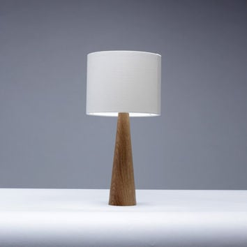 Handmade Solid Oak Wood Bedside table lamp