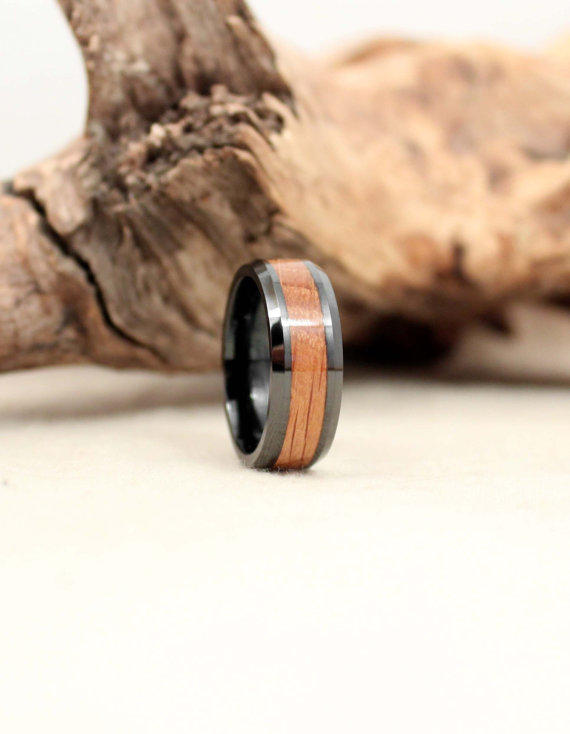Black Ceramic Ring With Jack Daniels From WedgewoodRings On Etsy