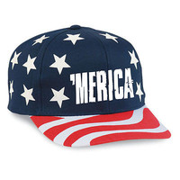 July 4th American Flag SnapBack Hat 'MERICA Logo