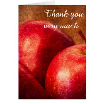Three Red Apples Card
