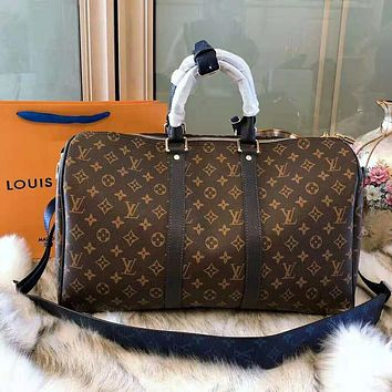 LV High Quality Fashionable Women Monogram Leather Luggage Travel Bags Tote Handbag