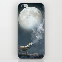 The Light of Starry Dreams (Wolf Moon) iPhone & iPod Skin by Soaring Anchor Designs