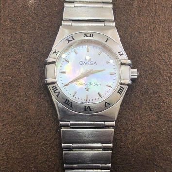 ONETOW Omega Constellation ¡°My Choice¡± Mini Ladies Watch Stainless Steel Quartz