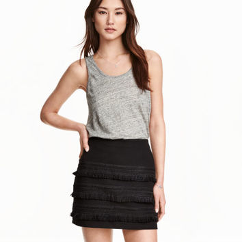 H&M Jersey Skirt with Fringe $24.99