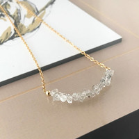 Herkimer Diamond Necklace, Gold Herkimer Diamond Necklace, Gold Raw Herkimer Diamond Necklace, Raw Herkimer Diamond, Herkimer Diamond