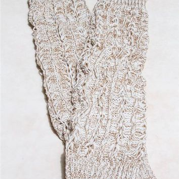 Marled Cable Knit Leg Warmers