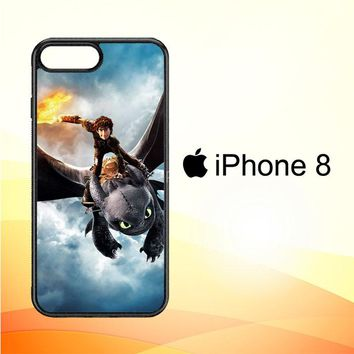 toothless how to train your dragon Y0782 iPhone 8 Case