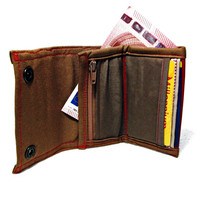 On SALE! Vegan Wallet, Slim Wallet, Smart Designer Small Wallet with Coin Pocket and Card Slots UNUSUAL - Handmade Ready to Ship