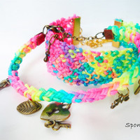 Rave Bracelet Set, Disco Neon colors, Macrame Bracelet , Friendship  Bracelet