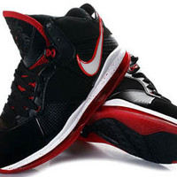 lebron james viii 8 basketball shoes black red and white mens buy