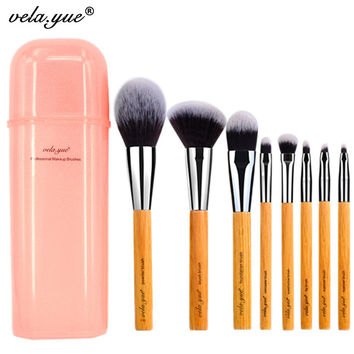 vela.yue Deluxe Makeup Brush Set Synthetic Face Cheek Eyes Lips Beauty Tools Kit with Gift