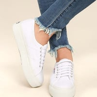 Superga 2790 ACOTW Linea Up and Down White Flatform Sneakers