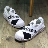 ADIDAS Superstar Slip Shell Head Casual Strap Shoes