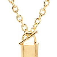 Chain Lock Charm Necklace by Charlotte Russe